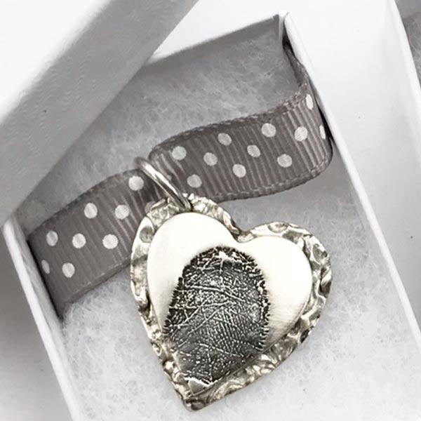 Fingerprinted Jewellery